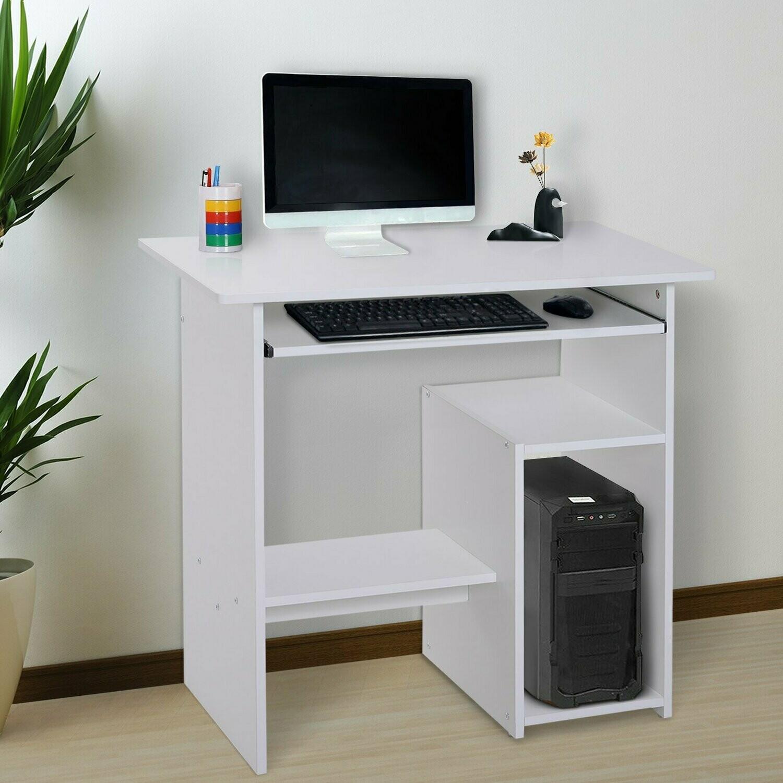 HOMCOM® Computertisch Schreibtisch Bürotisch Gamingtisch PC-Tisch Weiss