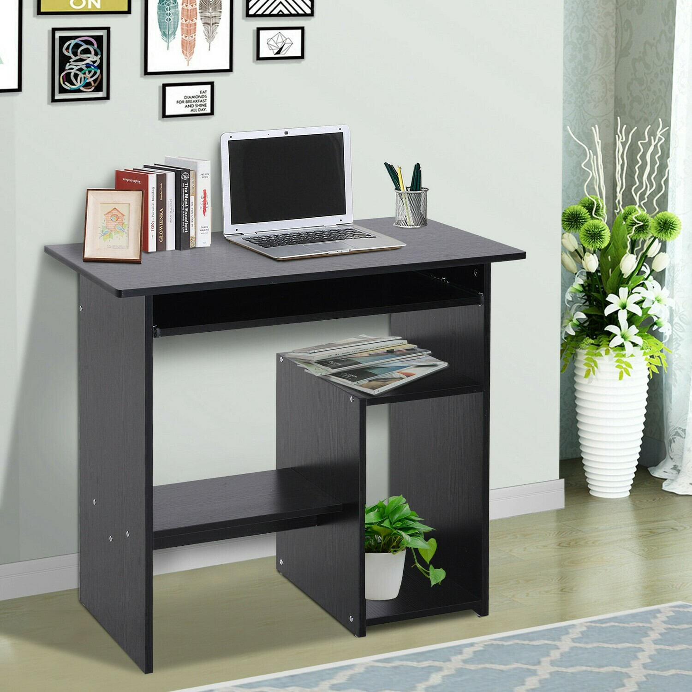 HOMCOM® Computertisch Schreibtisch Bürotisch Gamingtisch PC-Tisch Schwarz