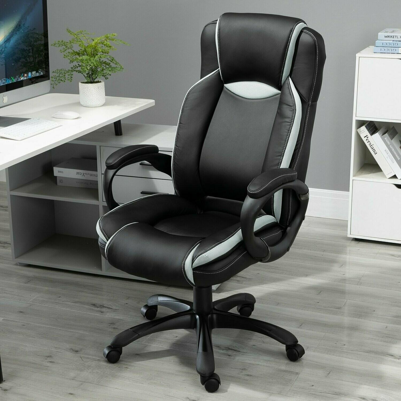 Vinsetto® Bürostuhl Chefsessel Sitzhöhe 48,5-58 cm Schwarz Weiss