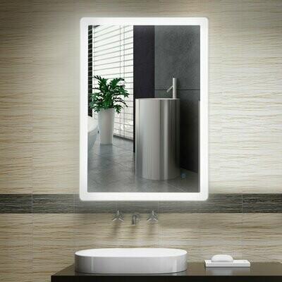 kleankin® Badezimmerspiegel Wandspiegel Badspiegel mit Beleuchtung LED Touch Kaltweiss