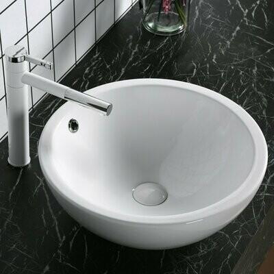 kleankin® Waschbecken Waschschale Waschtisch Lavabo Oval Keramik Ø45 x 18H cm