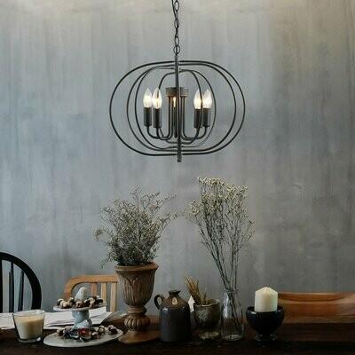 HOMCOM® Deckenlampe Pendelleuchte Hängeleuchte Deckenleuchte Industrie Vintage Schwarz