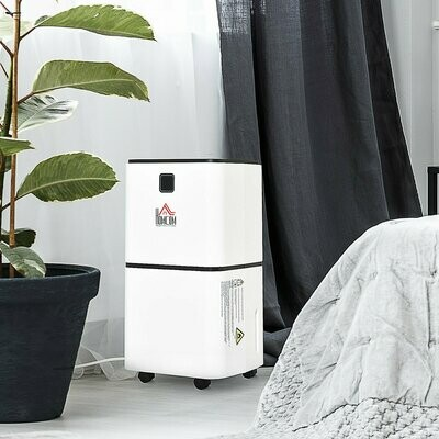 HOMCOM® Luftentfeuchter mit 3 Modi und 24 h Timer Raumentfeuchter ABS Weiss