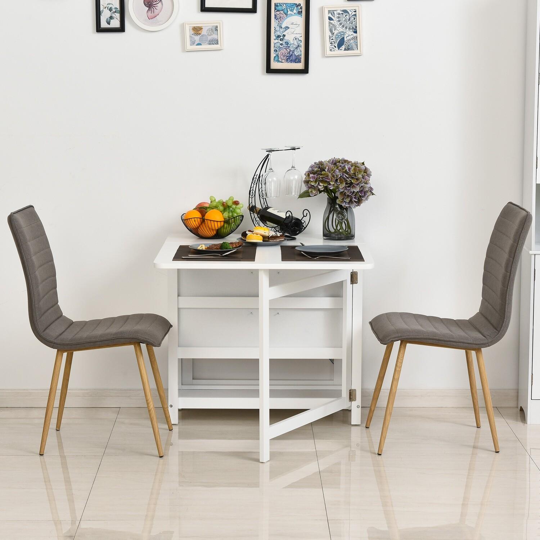 HOMCOM® Küchenschrank Sideboard mit 2 Schubladen Beistelltisch MDF Weiss