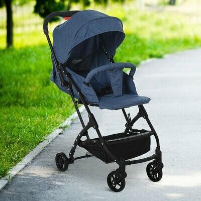 HOMCOM® Kinderwagen Faltbarer Buggy 0-36 Monate Blau
