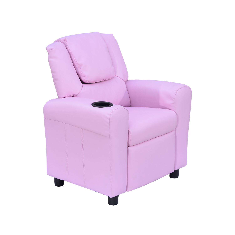 HOMCOM® Kindersessel Minisessel Kindersofa für 3-6 Jahre mit Liegefunktion Rosa