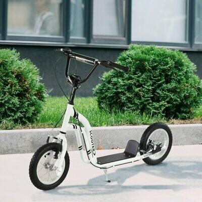 HOMCOM® Tretroller Scooter Cityroller Kinder verstellbar Aluminium Weiss