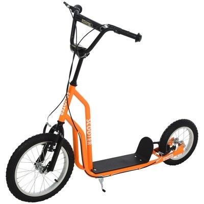 HOMCOM® Tretroller Scooter Cityroller Kinder verstellbar Aluminium  Orange