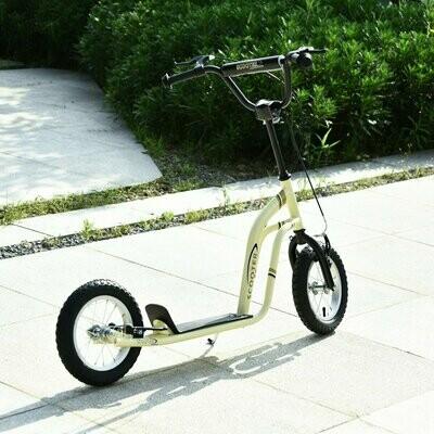 HOMCOM® Tretroller Scooter Cityroller Kinder verstellbar Aluminium Beige