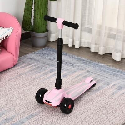 HOMCOM® Tretroller Scooter Cityroller Kinder höhenverstellbar für Mädchen Aluminium Rosa