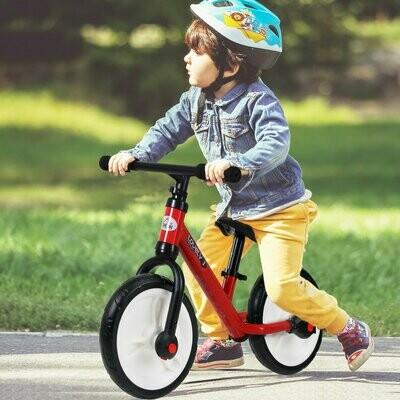 HOMCOM® Laufrad Kinderfahrrad Lauflernrad 2-in-1 Stützräder Pedale 2-5 Jahre PP Rot