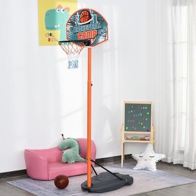 HOMCOM® Kinder Basketballständer Basketballkorb Einstellbare mit Ständer Blau+Schwarz