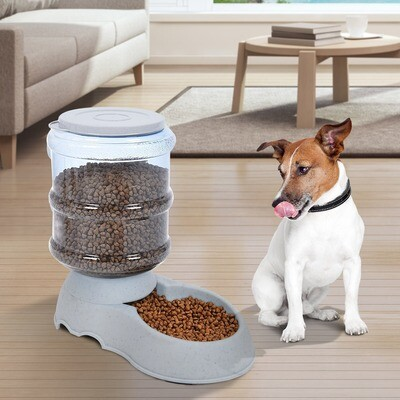 PawHut® Futternapf Futterautomat Hundefutter Katzenfutter 3,8 Liter Kunststoff