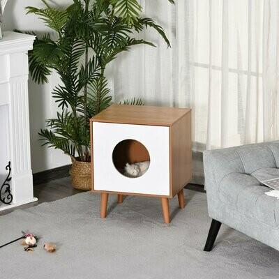 PawHut® Katzenhaus Katzenhöhle Katzenwohnung MDF Plüsch