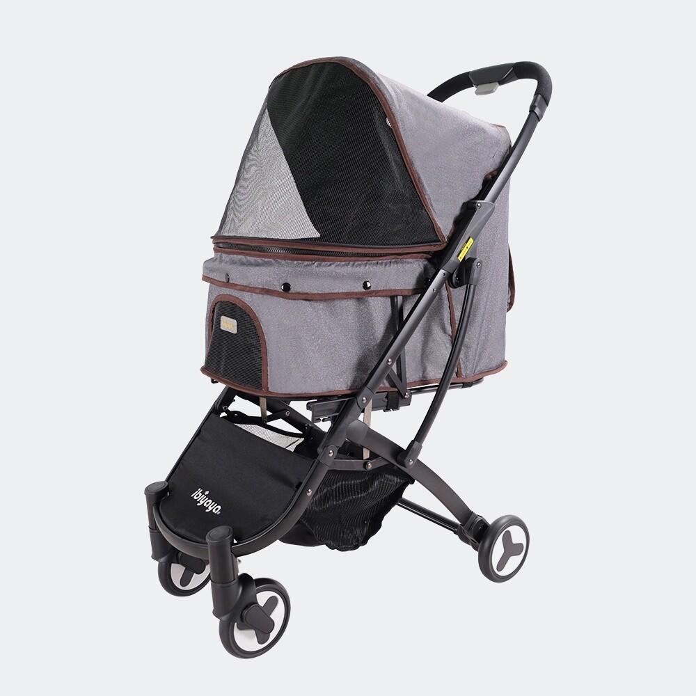 "Ibiyaya® Hundebuggy Pet Stroller  ""Speedy Fold"" Denim Grau"