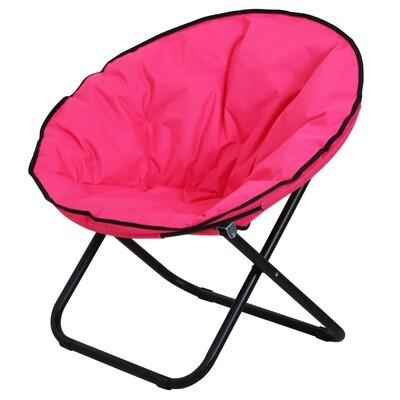 Outsunny® Klappstuhl Campingstuhl gepolstert faltbar Rosa 80 x 80 x 75 cm