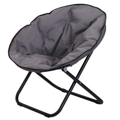Outsunny® Klappstuhl Campingstuhl gepolstert faltbar grau 80 x 80 x 75 cm