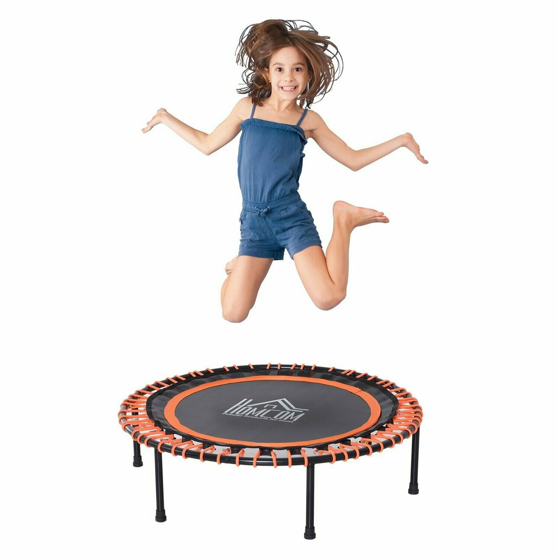 Outsunny® Trampolin Gartentrampolin für Kinder und Erwachsene Joga Stahl 100 kg Schwarz