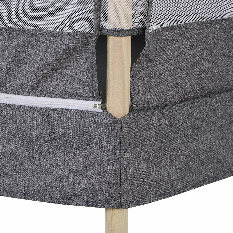 HOMCOM Kinder Trampolin mit Sicherheitsnetz | Randabdeckung | 126 x 109 x 98 cm | PP-Tuch