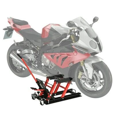 DURHAND® Motorradheber Motorrad Hydraulik Hydraulisch Hebebühne max. 680 Kg Stahl Rot