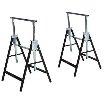 DURHAND® Sägebock Arbeitsbock Hohenverstellbar Faltbar Metall Schwarz Belastbar 200kg