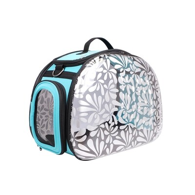Ibiyaya Hundereisetasche,  Transparent Hardcase Carrier: Modell; Honeysuckle