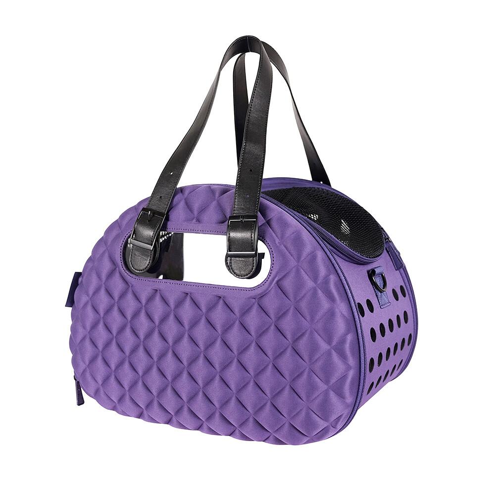 Ibiyaya Hundereisetasche,  Diamond Deluxe Pet Carrier – Dark Purple