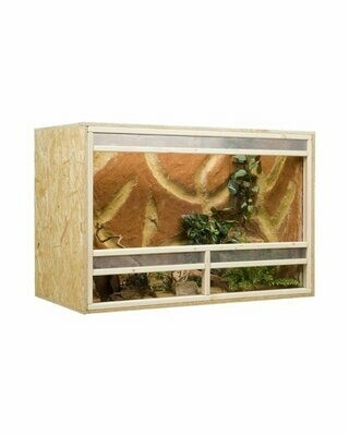 Holzkonzept OSB-Terrarium 120 x 60 x 80 cm mit Frontbelüftung