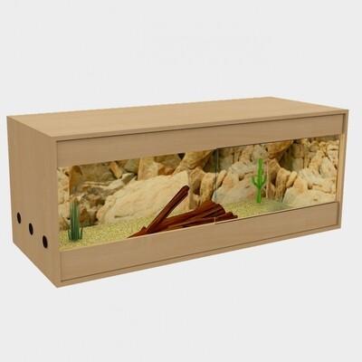 Holzkonzept Premiumterrarium   Front 120 cm   Buche -