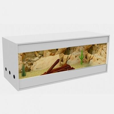 Holzkonzept Premiumterrarium   Front 200 cm   weiss -