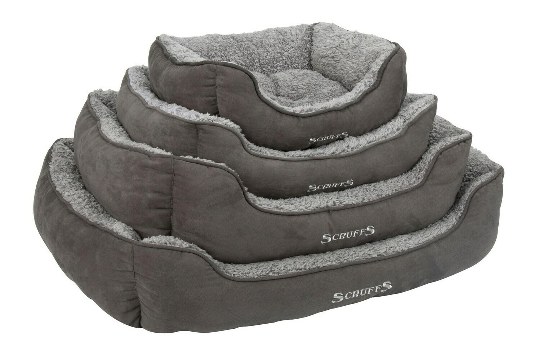 Scruffs® Cosy Box Bed, Grau/ Grösse: Large 75 x 60 cm
