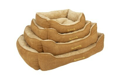 Scruffs® Cosy Box Bed, Beige/ Grösse: X- Large 90 x 70 cm