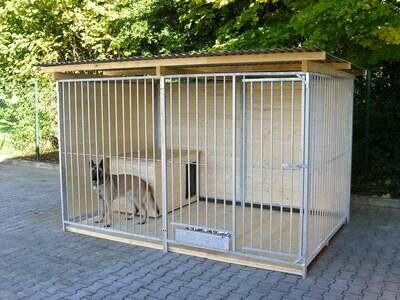 SAUERLAND Hundezwinger T 2,0 x B 4,0 m / 2 seitig geschlossen, Sonderserie