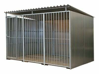 Hundezwinger aus Metall 3 x 2 m, 3seitig geschlossen