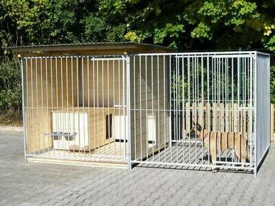 SAUERLAND Hundezwinger 2x4m, halb überdacht, Sonderserie