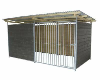 SAUERLAND Hundezwinger graphitgrau 3,5-seitig geschlossen, Sonderserie