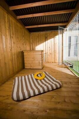 SAUERLAND Holzboden für Hundezwinger, braun imprägniert