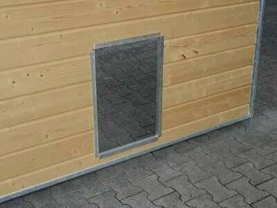 SAUERLAND Schlupfloch für Hundezwinger ohne Klappe, für alle Holzwände geeignet