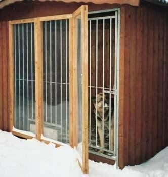SAUERLAND Windschutz für Hundezwinger