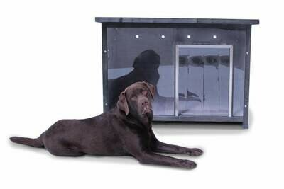 SAUERLAND Hundehütte mit Acrylglas-Front