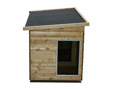 Sauerland Isolierte Hundehütten mit Vorraum, Allwetterdach, imprägniert, Eingang Schmalseite