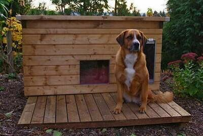 SAUERLAND Holz-Liegeroste für Hundehütten