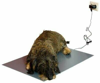 Haustier- / Hunde-Wärmeplatte Heizmatte PVC, 12V-Trafo 40 x 60 cm