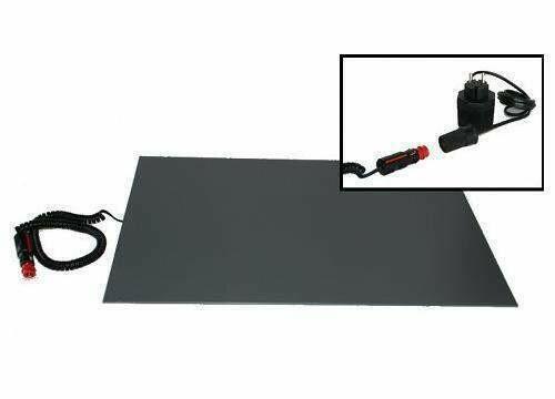 Hunde-/ Haustier-PVC-Wärmeplatte, mit 12V Kfz-Stecker für den Betrieb im Auto & Trafo für den Gebrauch zuhause.