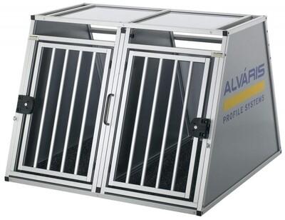 Alvaris Auto-Doppel-Hundebox King inkl. Notausstieg