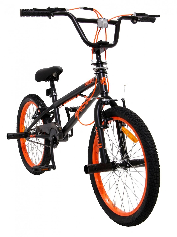 AMIGO BMX Fahrrad / Velo Danger 20 Zoll 26 cm Unisex V-Brakes Schwarz / Orange