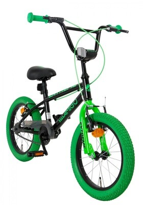 BMX Fahrrad / Velo AMIGO Extreme 16 Zoll 25,4 cm Junior V-Brake Grün/Schwarz