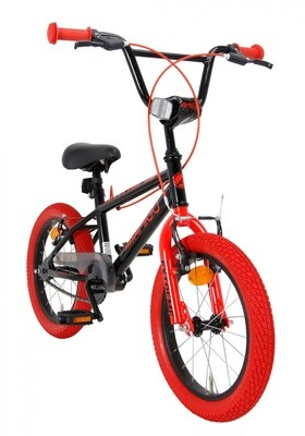 BMX Fahrrad / Velo AMIGO Extreme 16 Zoll 25,4 cm Junior V-Brake Schwarz/Rot