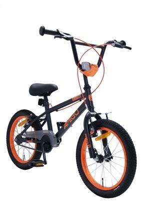 BMX Fahrrad / Velo AMIGO BMX Danger 16 Zoll 25,4 cm Junior V-Brake Schwarz/Orange