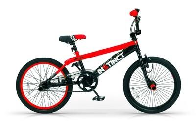 BMX Fahrrad / Velo MBM Instinct 20 Zoll 49 cm Jungen V-Brake Schwarz/Rot
